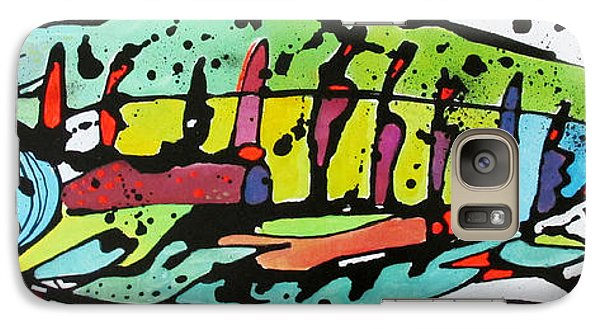 Galaxy Case featuring the painting Chum by Nicole Gaitan