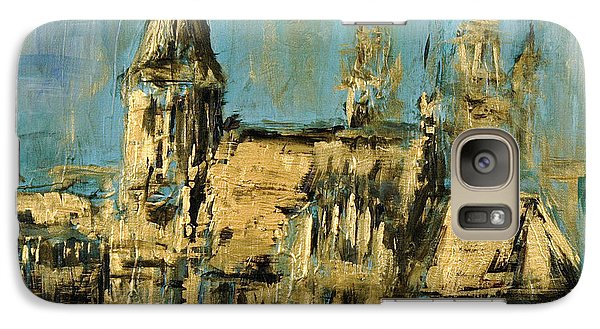Galaxy Case featuring the painting Church by Arturas Slapsys