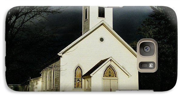 Galaxy Case featuring the photograph Church At Dusk by Tom Brickhouse
