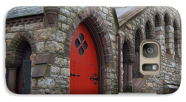 Galaxy Case featuring the photograph Church Door by Val Miller