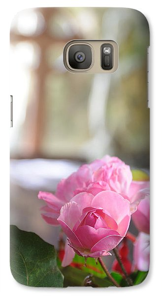 Galaxy Case featuring the photograph Church Flowers by Jeremy Voisey