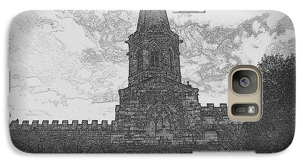 Galaxy Case featuring the photograph Church In Sketch by Karen Kersey