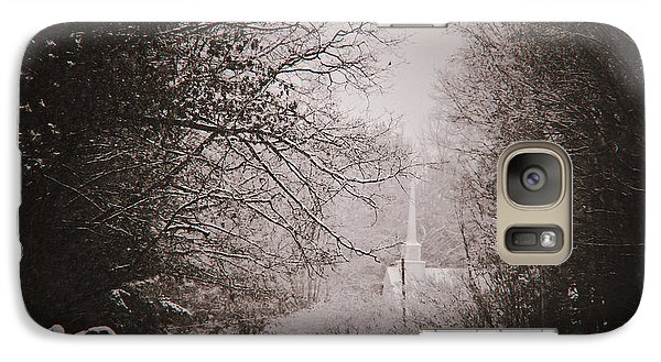 Galaxy Case featuring the photograph Church In The Snow  by Debra Crank