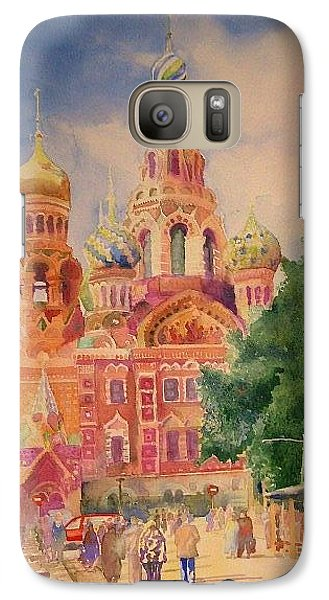 Galaxy Case featuring the painting Church On The Spilt Blood by Alla Parsons