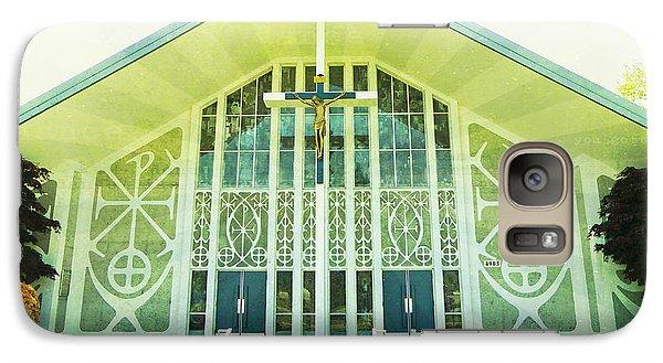 Galaxy Case featuring the photograph Church Sunburst by Laurie Tsemak