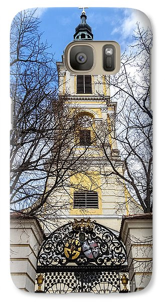 Church Tower With Wrought Iron Gate  Grossweikersdorf Austria Galaxy S7 Case