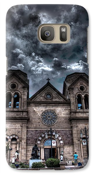 Galaxy Case featuring the photograph Church Under An Angry Sky by Dave Garner