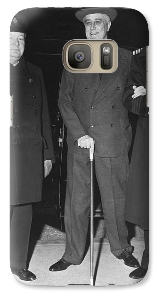 Churchill And Roosevelt Galaxy S7 Case by Underwood Archives