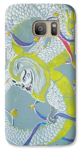 Galaxy Case featuring the pastel Chu's Dance Of 12 Bells by Wendy Coulson