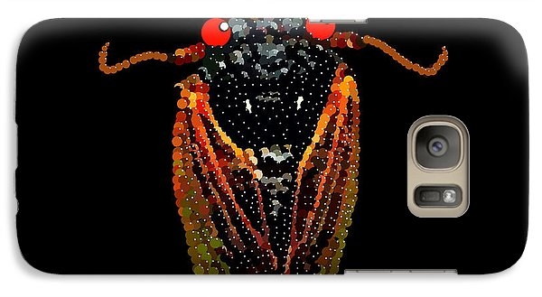 Galaxy Case featuring the digital art Cicada In Black by R  Allen Swezey