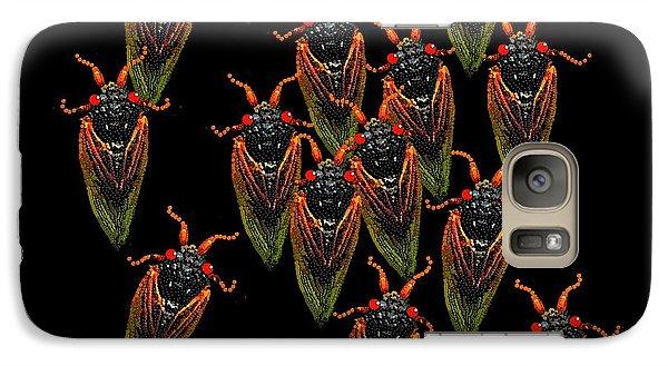 Galaxy Case featuring the digital art Cicadas by R  Allen Swezey