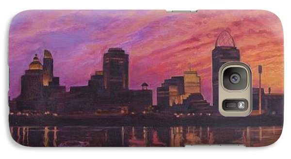 Galaxy Case featuring the painting Cincinnati Skyline by Andrew Danielsen