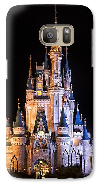 Cinderella's Castle In Magic Kingdom Galaxy Case by Adam Romanowicz