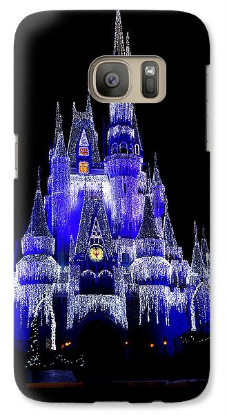 Galaxy Case featuring the photograph Cinderella's Castle by Laurie Perry