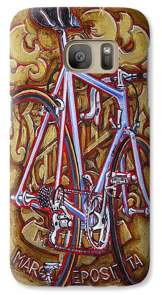 Galaxy Case featuring the painting Cinelli Laser Bicycle by Mark Howard Jones