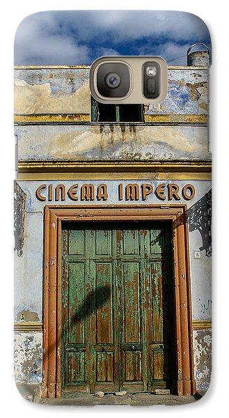 Galaxy Case featuring the photograph Cinema Impero by Glenn DiPaola