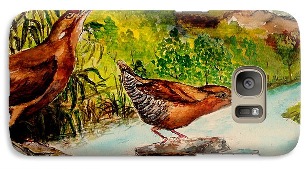 Galaxy Case featuring the painting Cinnamon Bittern by Jason Sentuf