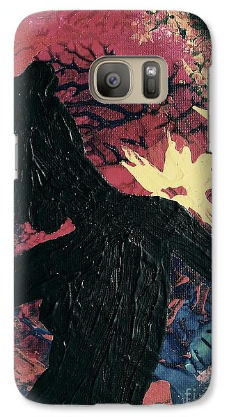 Galaxy Case featuring the painting Cinnamon by Jacqueline McReynolds