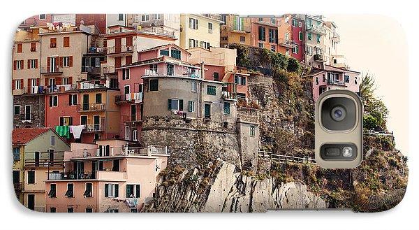 Cinque Terre Mediterranean Coastline Galaxy Case by Kim Fearheiley
