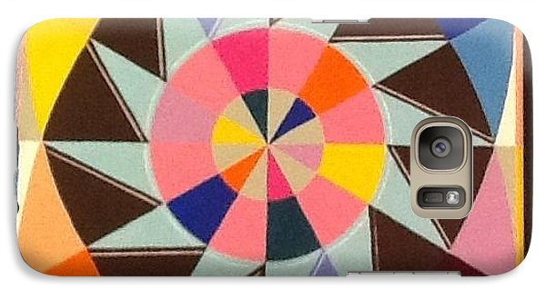 Galaxy Case featuring the painting Circle Dance by Hang Ho