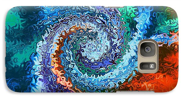 Galaxy Case featuring the digital art Circle Of Colors Abstract Art by Annie Zeno