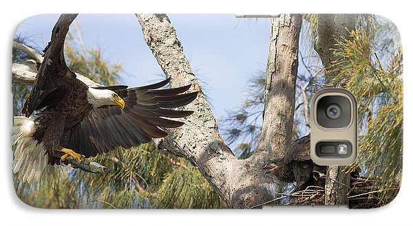 Galaxy Case featuring the photograph Bald Eagle Nest by Doug McPherson