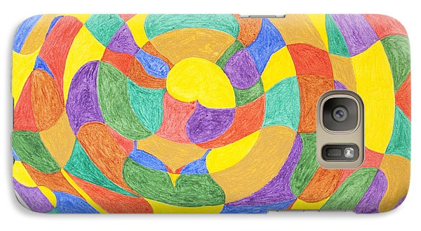 Galaxy Case featuring the painting Life Cycles by Stormm Bradshaw