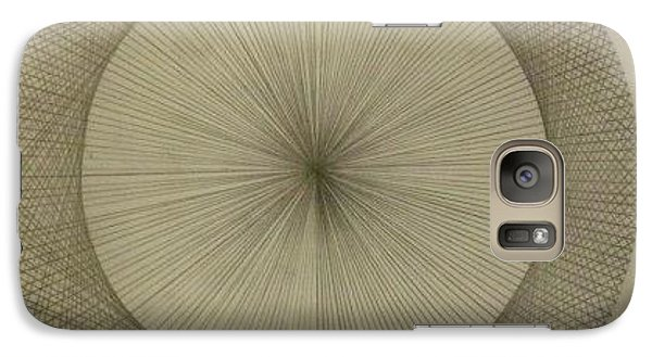 Galaxy Case featuring the drawing Circles Don't Exist Two Degree Frequency by Jason Padgett
