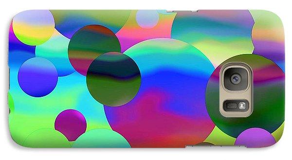Galaxy Case featuring the digital art Circles by Elizabeth Budd