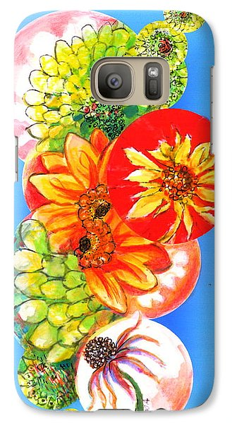 Galaxy Case featuring the digital art Circles Of Flowers by Mary Armstrong