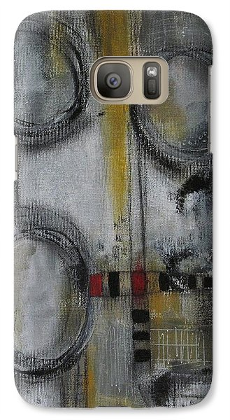 Galaxy Case featuring the painting Circles Of Life by Nicole Nadeau