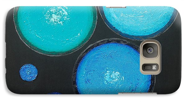 Galaxy Case featuring the painting Circles Of My Mind by Mini Arora