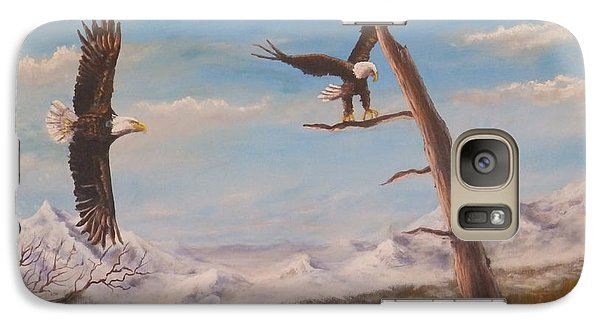 Galaxy Case featuring the painting Circling Eagle by Dan Wagner