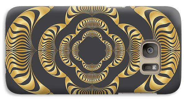 Galaxy Case featuring the digital art Circularity No. 11 by Alan Bennington