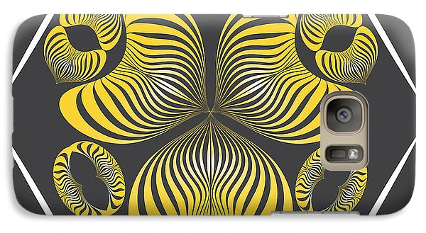 Galaxy Case featuring the digital art Circularity No. 15 by Alan Bennington