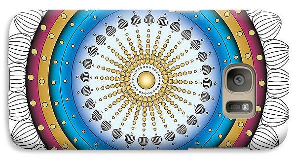 Galaxy Case featuring the digital art Circularity No. 16 by Alan Bennington
