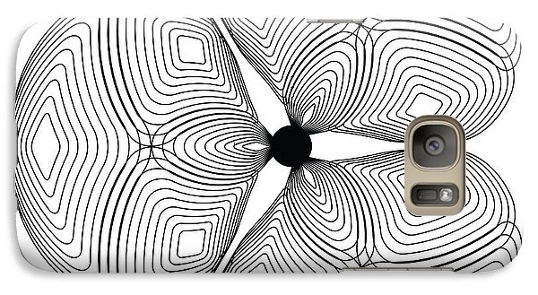 Galaxy Case featuring the digital art Circularity No. 24 by Alan Bennington