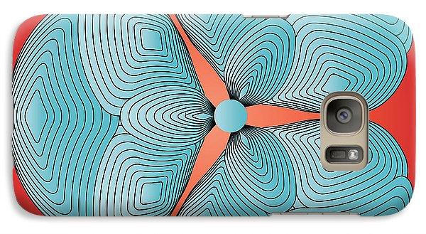 Galaxy Case featuring the digital art Circularity No. 25 by Alan Bennington