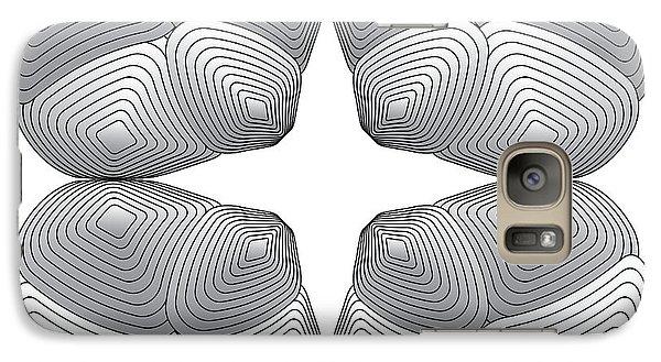 Galaxy Case featuring the digital art Circularity No. 26 by Alan Bennington