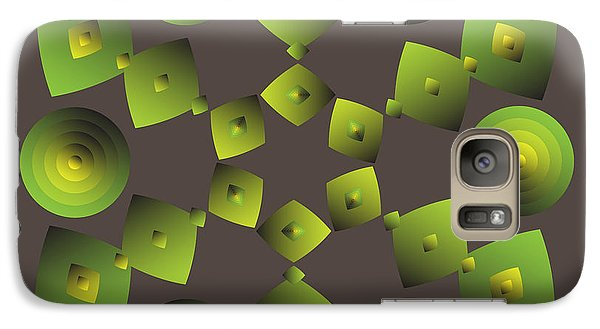 Galaxy Case featuring the digital art Circularity No. 27 by Alan Bennington