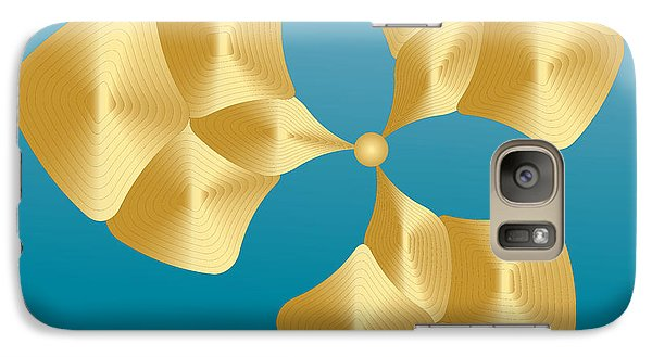 Galaxy Case featuring the digital art Circularity No. 28 by Alan Bennington