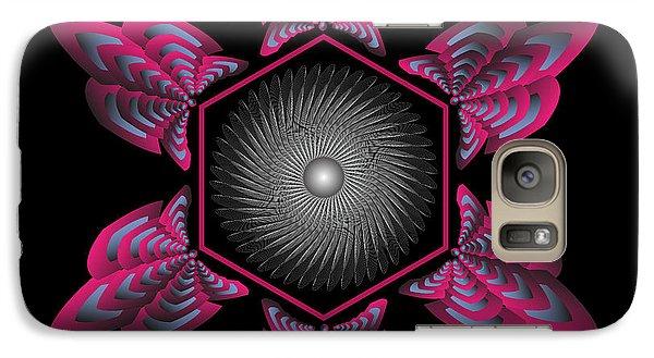 Galaxy Case featuring the digital art Circularity No. 33 by Alan Bennington