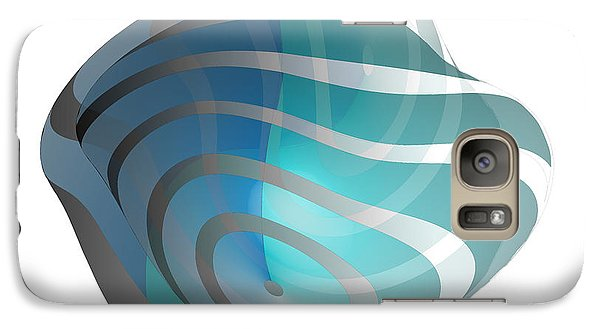Galaxy Case featuring the digital art Circularity No. 34 by Alan Bennington