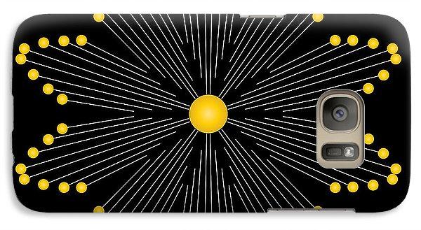 Galaxy Case featuring the digital art Circularity No. 35 by Alan Bennington