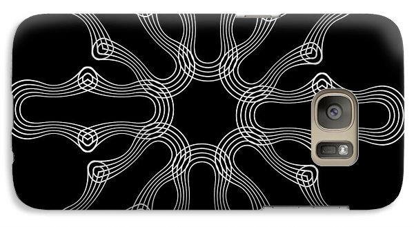 Galaxy Case featuring the digital art Circularity No. 43 by Alan Bennington