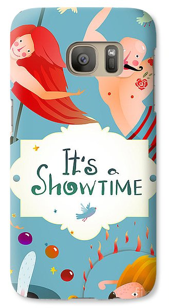 Magician Galaxy S7 Case - Circus Carnival Show Vintage Billboard by Popmarleo