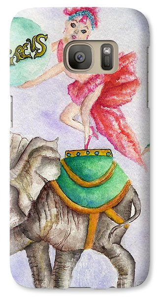 Galaxy Case featuring the painting Circus Elephant by Tamyra Crossley