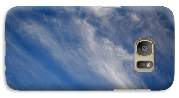 Galaxy Case featuring the digital art Cirrus Clouds And Blue Sky 2  by Lyle Crump