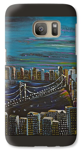 Galaxy Case featuring the painting Citiscape by Donna Blossom
