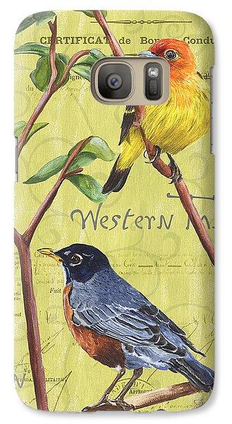 Robin Galaxy S7 Case - Citron Songbirds 2 by Debbie DeWitt